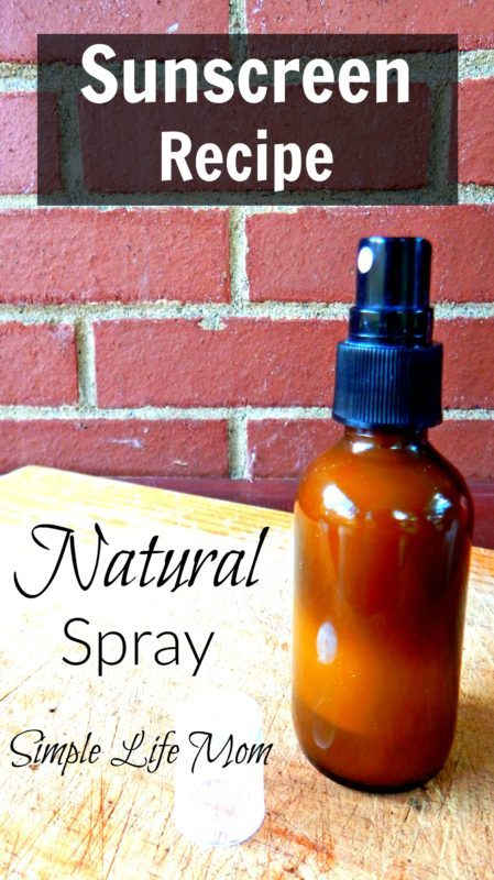 Natural Spray Sunscreen Recipe from Simple Life Mom