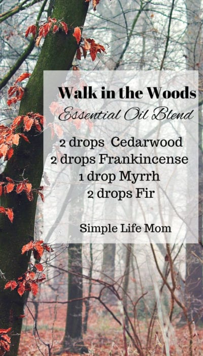 15 Fall Essential Oil Diffuser Blends - Walkin the Woods Essential Oil Blend from Simple Life Mom
