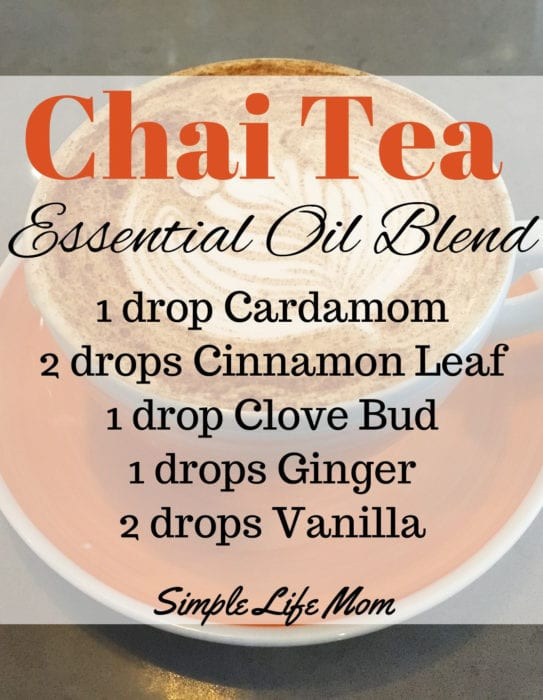 15 Fall Essential Oil Diffuser Blends from Simple Life Mom - Chai Tea