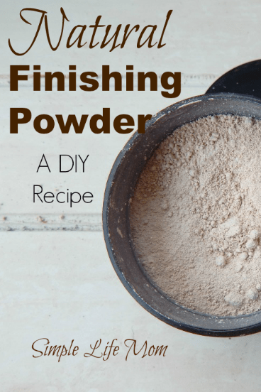 Natural Finishing Powder Recipe from Simple Life Mom