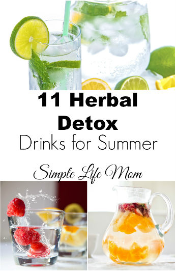 11 herbal detox drinks for summer by Simple Life Mom
