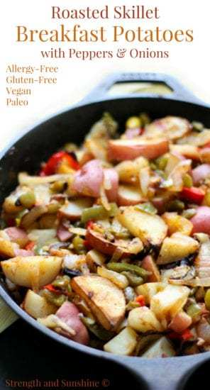 Homestead Blog Hop Feature - Roasted-Skillet-Breakfast-Potatoes-with-Peppers-Onions