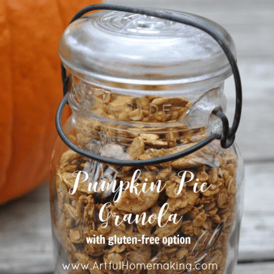 Homestead Blog Hop Feature - pumpkin-pie-granola recipe