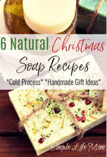 6 Natural Christmas Soap Recipes from Simple Life Mom