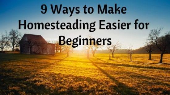 Hometead Blog Hop Feature - 9 ways to make homesteading easier for beginners