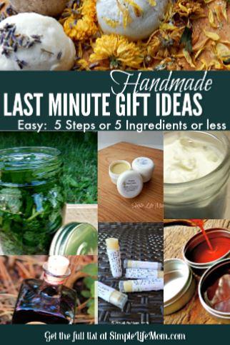 Last Minute Handmade Gift Ideas 5 Ingredients or Less