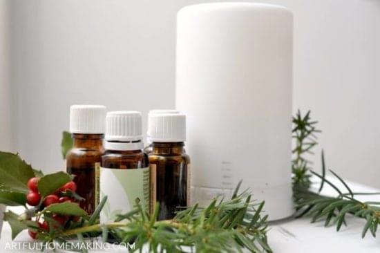 Homestead Blog Hop Feature - winter-essential-oil-blends