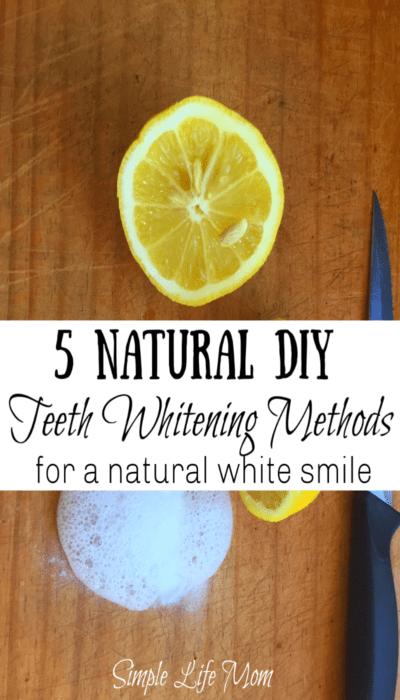 DIY Natural Teeth Whitening Methods by Simple Life Moms
