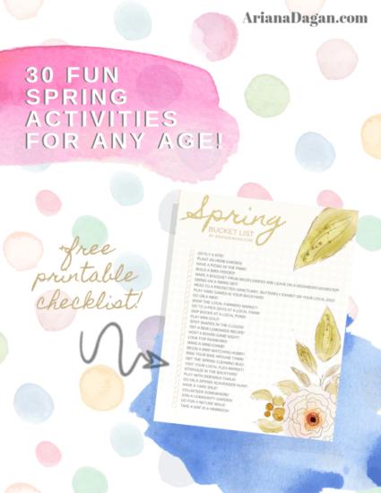 Homestead Blog Hop Feature - 30 Fun Spring Activities
