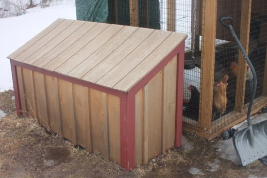Homestead Blog Hop Feature - the bin or storage at your chicken coop