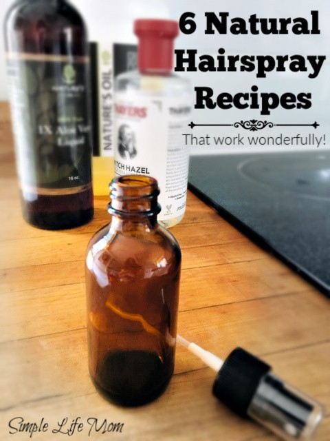 6 Natural Hair Spray Recipes by Simple Life Mom