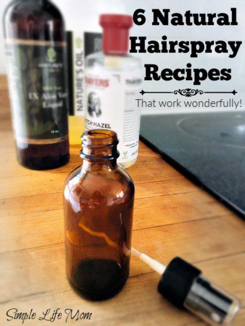 6 Natural Hairspray Recipes