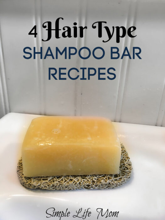 4 Hair Type Shampoo Bar Recipes by Simple Life Mom