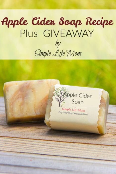 Apple Cider Soap Recipe by Simple Life Mom