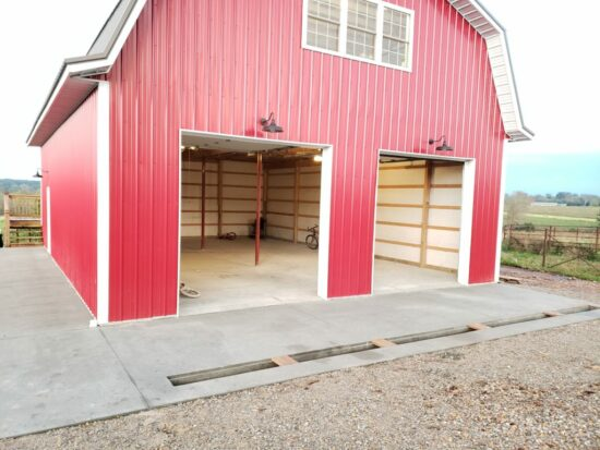 Homestead Blog Hop Feature - Our Red Barn Update - Loft and Concrete