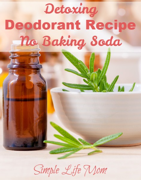 Natural Detoxing Deodorant without baking soda