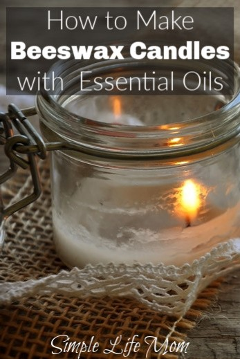 DIY Beeswax Candles With Essential Oils