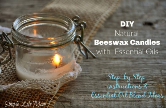 DIY Beeswax Candles with Essential Oils by Simple Life Mom