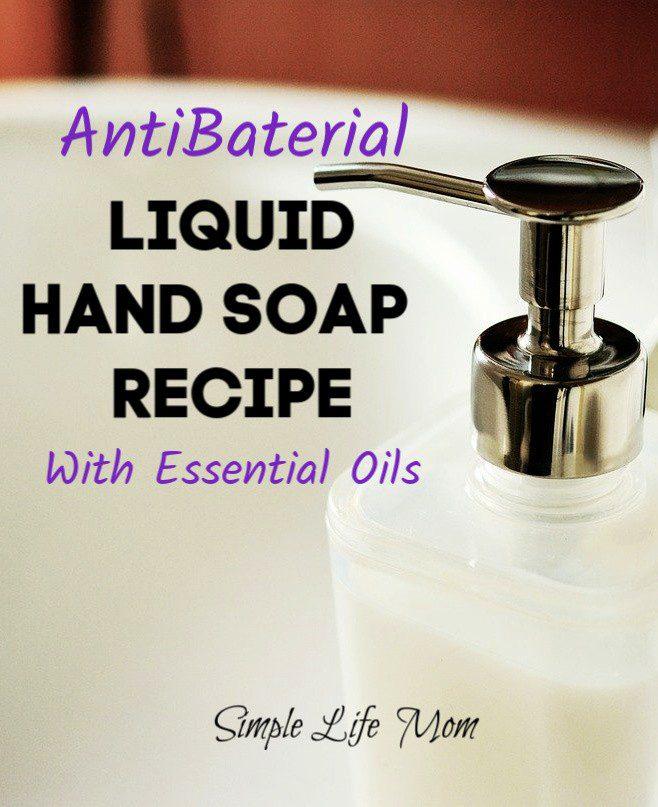 DIY Antibacterial Hand Soap – Liquid Soap Recipe