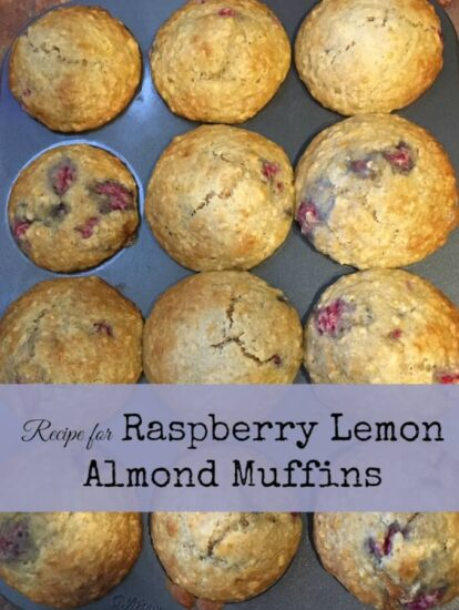 Homestead Blog Hop Feature - Recipe-for-Raspberry-Lemon-Almond-Muffins