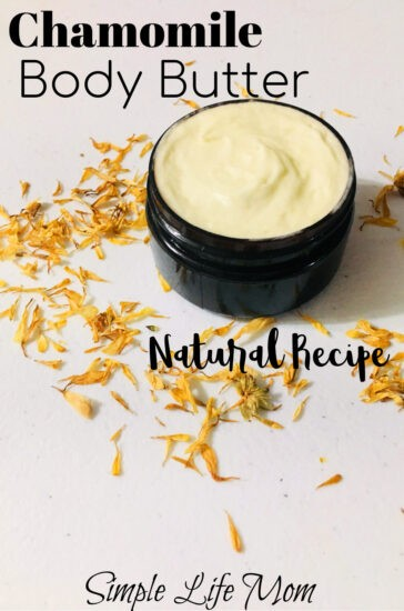 Natural Chamomile Body Butter Recipe from Simple Life Mom