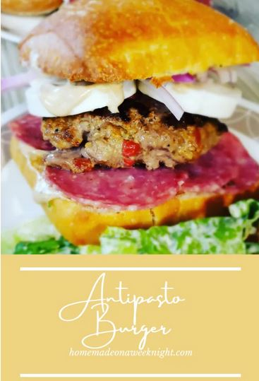 Homestead Blog Hop Feature - Antipasta Burger