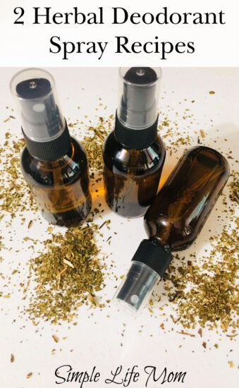 2 Herbal Deodorant Spray Recipes from Simple Life Mom
