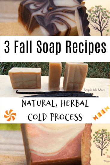 3 Fall Soap Recipes - natural cold process soap from Simple Life Mom