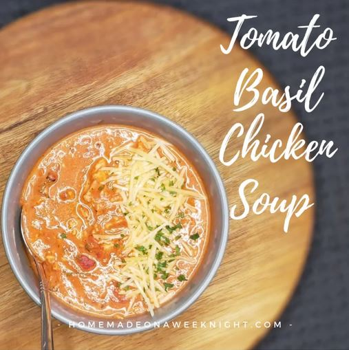 Homestead Blog Hop Feature - Tomato Basil Chicken Soup