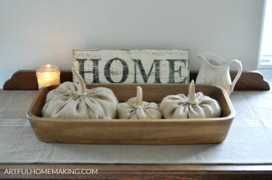 Homestead Blog Hop Feature - fall-homemaking-decor-pumpkins