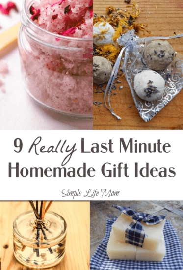 9 Really Last Minute Gift Ideas - Homemade, DIY gifts with natural ingredients