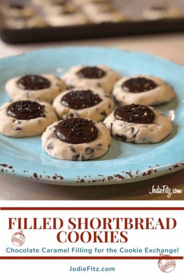 Homestead Blog Hop Feature - Chocolate Caramel Filled shortbread-cookies