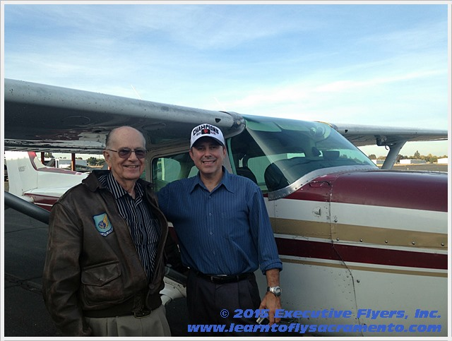 image: Ray Kinney with Steven Thompson owner Executive Flyers, Sacramento
