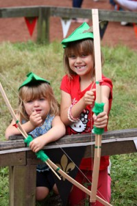 Family cultural immersion abroad - Robin Hood Festival