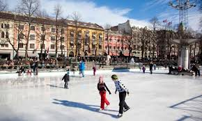 study abroad - active language learning - ice skating