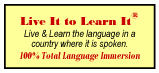 professional foreign language training - Live It to Learn It
