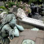 Some cemeteries are known for their sculptures.