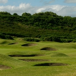 Playing golf in Scotland