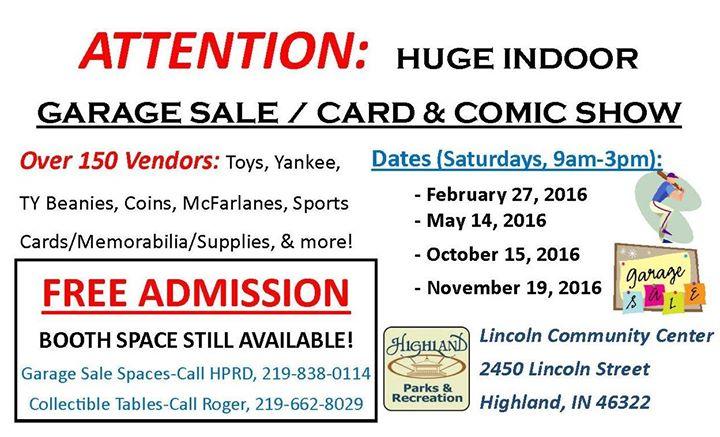 Garage Sale / Card & Comic Show
