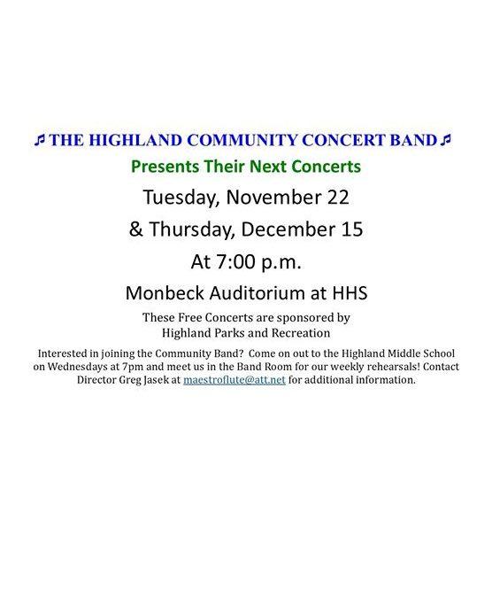 Community Band Concert