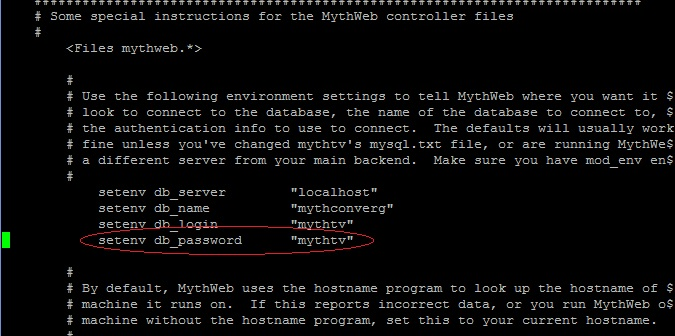 Change Mythtv Password For Mysql And Mythweb mythweb