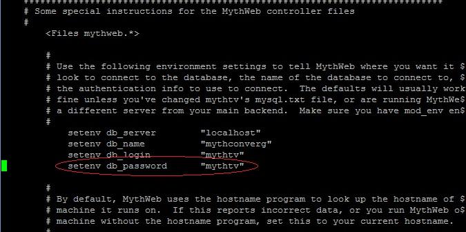Change Mythtv Password For Mysql And Mythweb mythweb