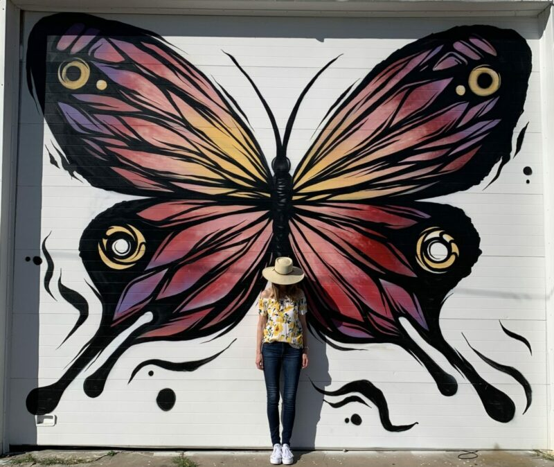 Metamorfose Butterfly wall