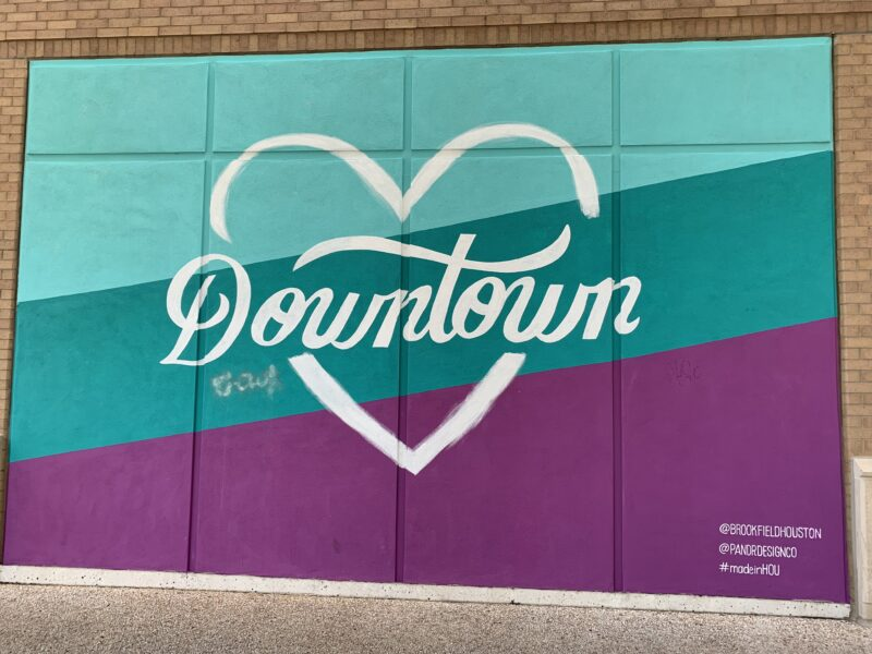downtown wall mural