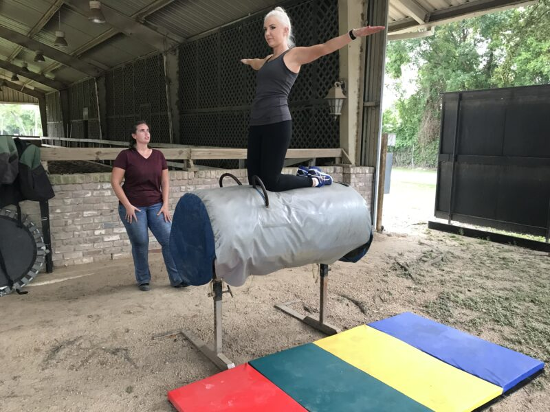 Vaulting knee stand
