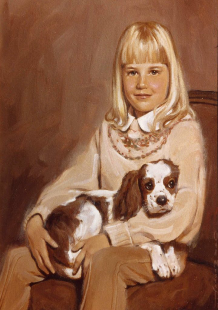 Girl with Dog - Commission