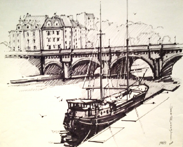 P{ont Neuf and Boat, Paris