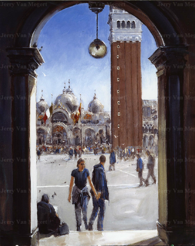 The Piazza, Venice (Sold)