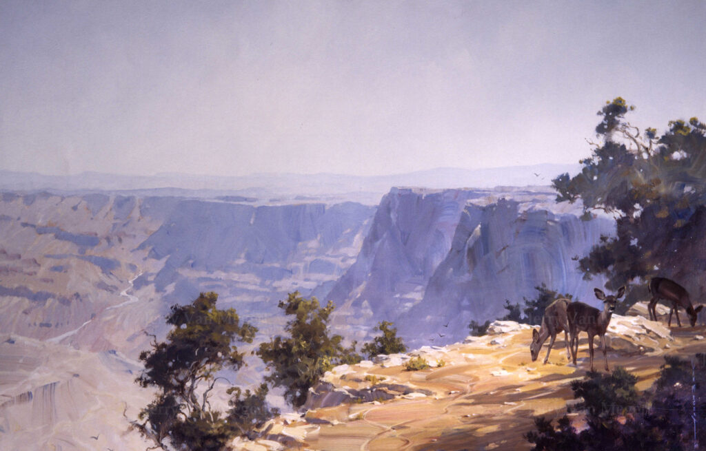 "Grand Canyon with Deer 45""x70"""
