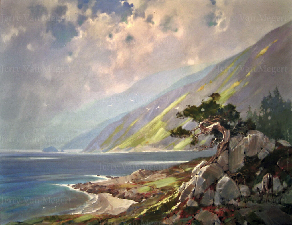"Big Sur with Pinetree 24""x36"" (Sold)"